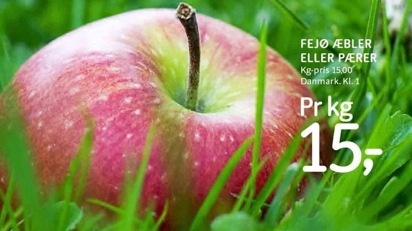 Fejø æbler eller pærer