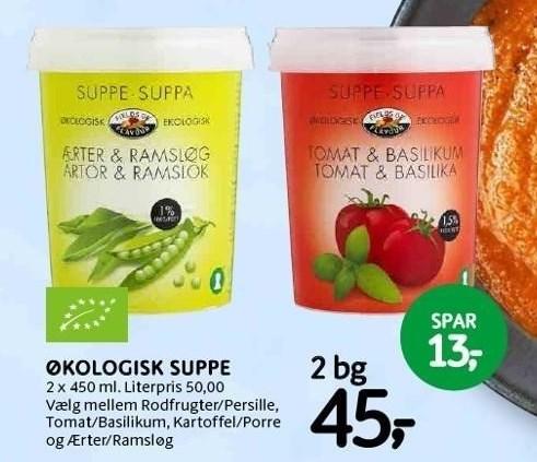Økologisk suppe, 2 bg