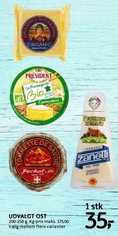 Udvalgt ost