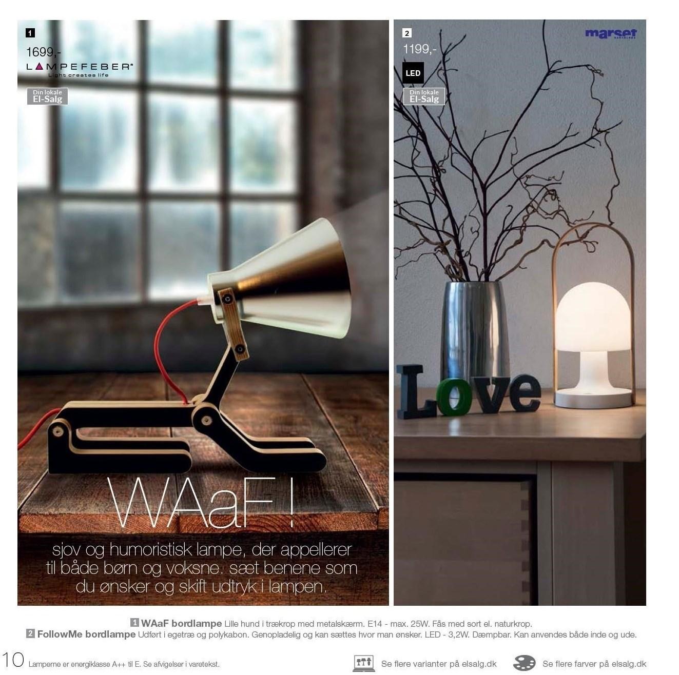 FollowMe eller WAaF bordlampe