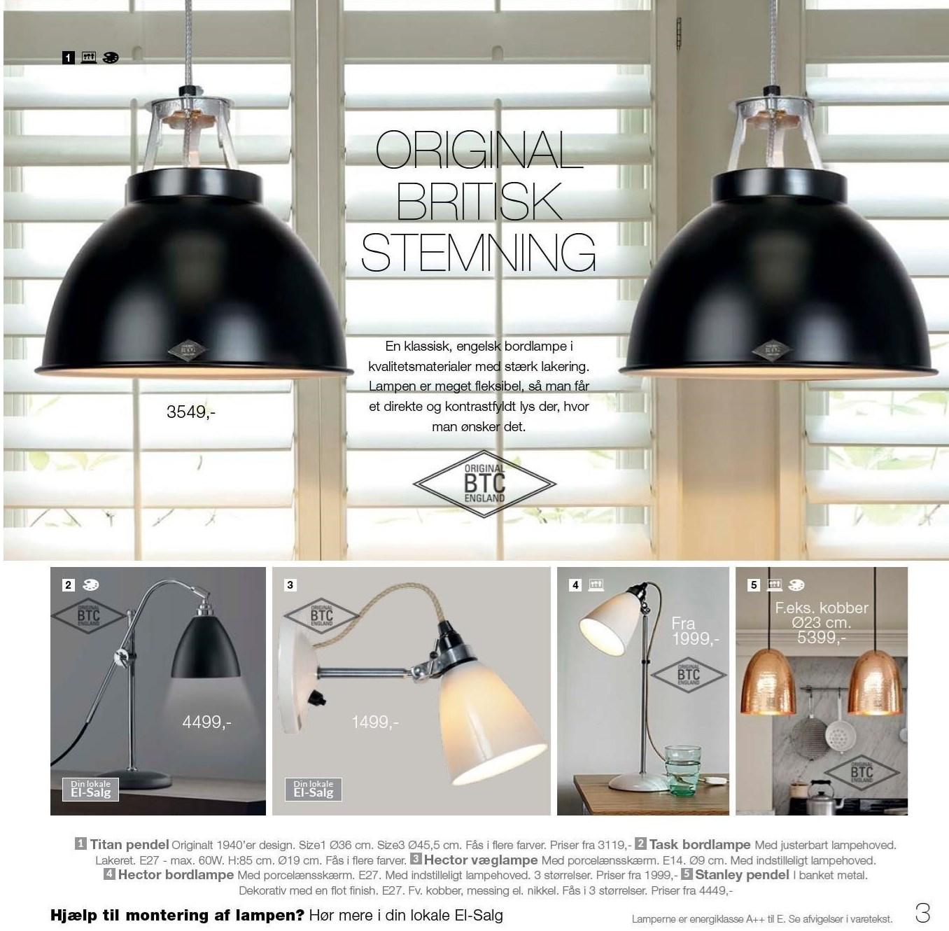 Væglampe, bordlampe eller pendel