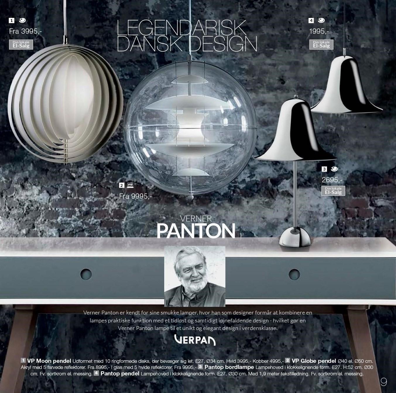 Pantop pendel eller bordlampe