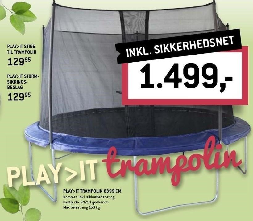 Play>IT stige til trampolin