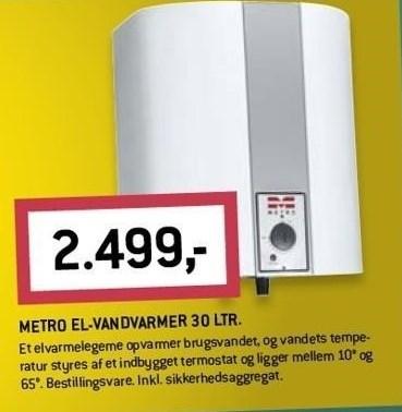 Metro El-Vandvarmer 30 ltr.