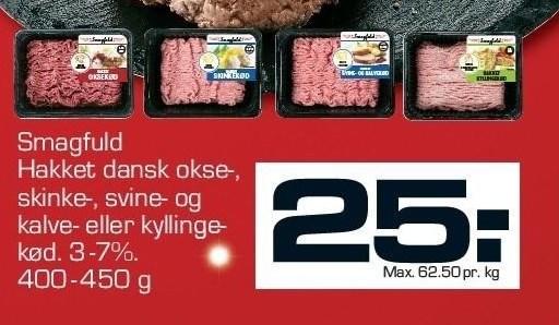 Smagfuld hakket dansk oksekød 3-7%