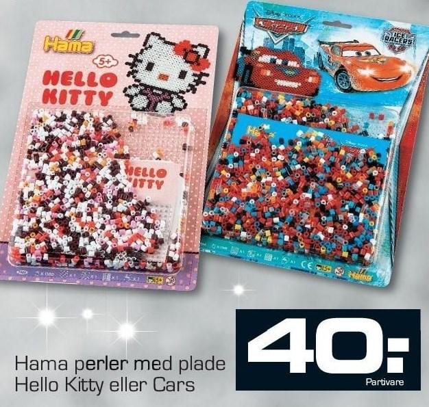 Hama perler med plade