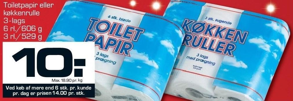 Toiletpapir eller køkkenrulle