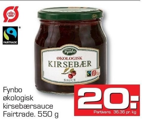 Fynbo økologisk kirsebærsauce