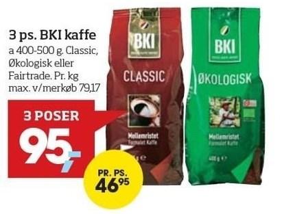 3 ps. BKI kaffe