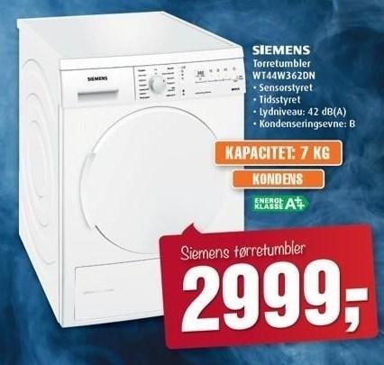 Siemens tørretumbler