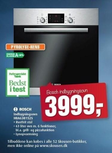 Bosch indbygningsovn