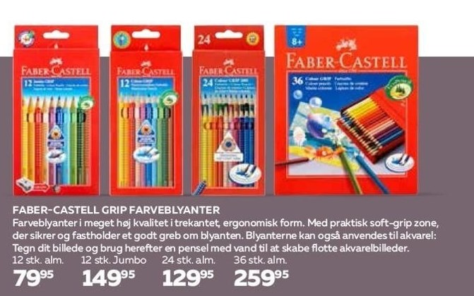 Farber-Castell Grip farveblyanter