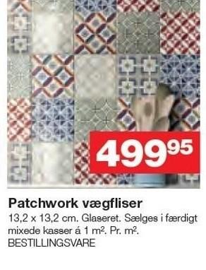 Patchwork vægfliser - pr. m2