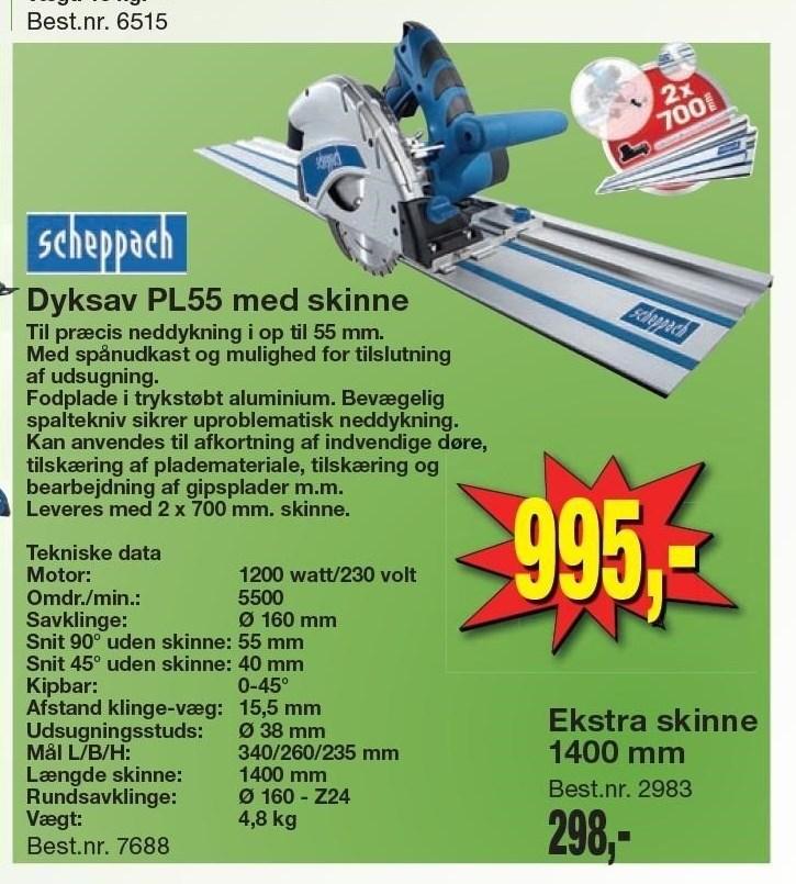 Dyksav PL55 med skinne