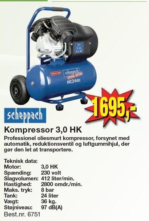 Kompressor 3,0 HK