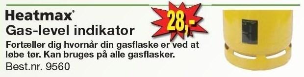 Gas-level indikator