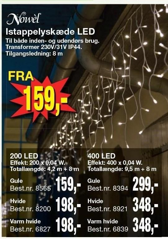 Istappelyskæde LED