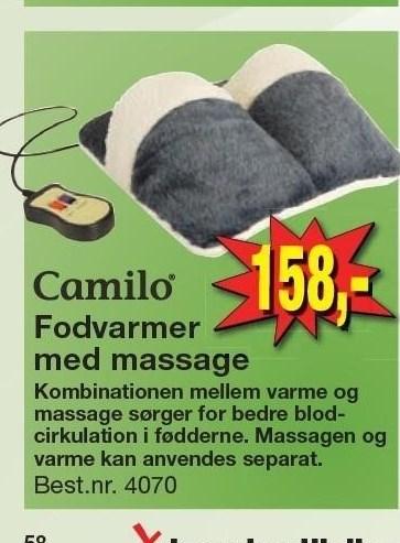 Fodvarmer med massage