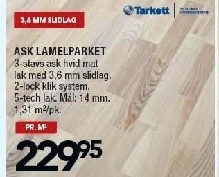 Ask Lamelparket pr. m2