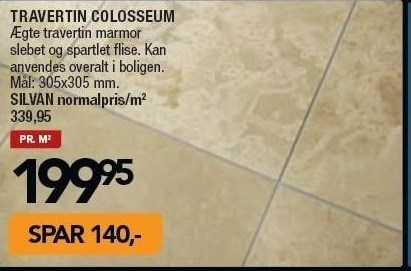 Travertin Colosseum pr. m2