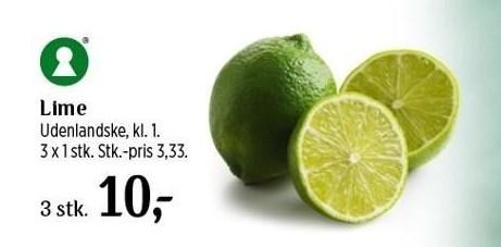3 stk. Lime