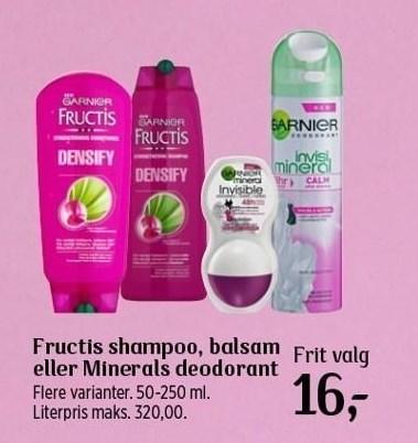 Frutic Shampoo, Balsam eller Minerals deodarant