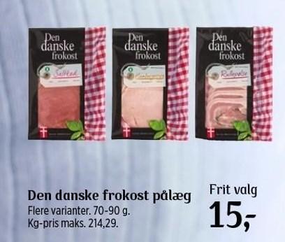 Den danske frokost pålæg