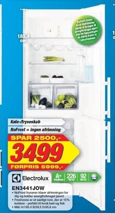 Electrolux Køle-/Fryseskab med Nofrost