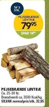 Pejsebrænde løvtræ 3 stk.