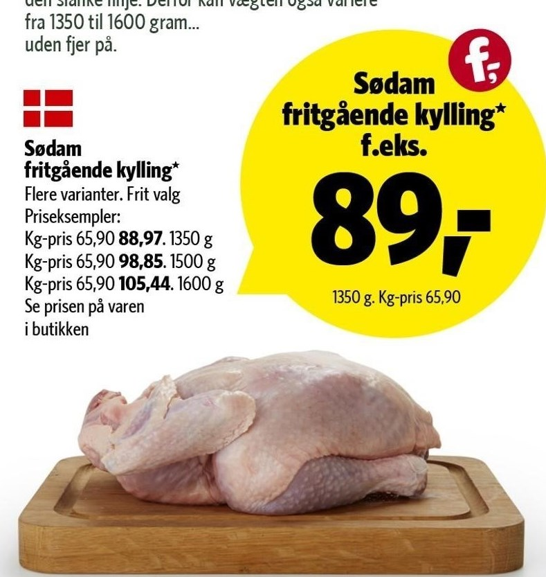 Sødam fritgående kylling