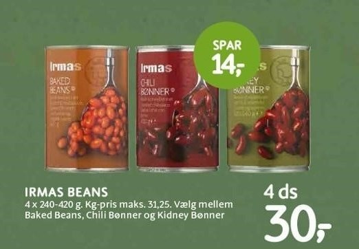 Irmas beans 4 ds