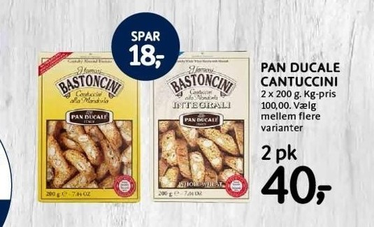 Pan Ducale Cantuccini 2 pk