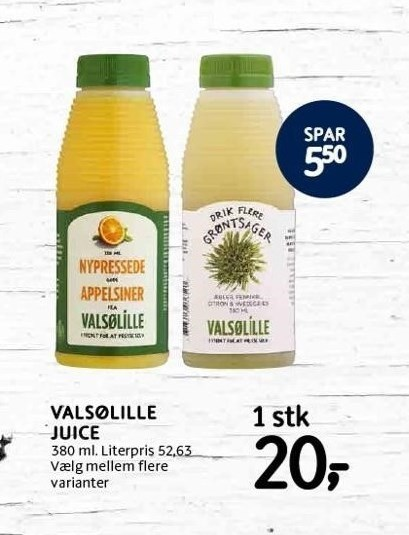 Valsølille juice