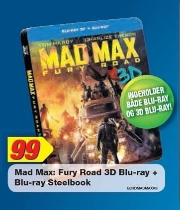 Mad Max: Fury Road 3D Blu-ray + Blu-ray Steelbook