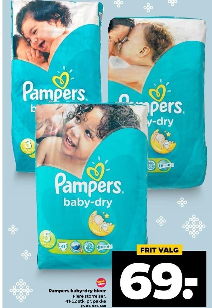 Pampers baby-dry bleer