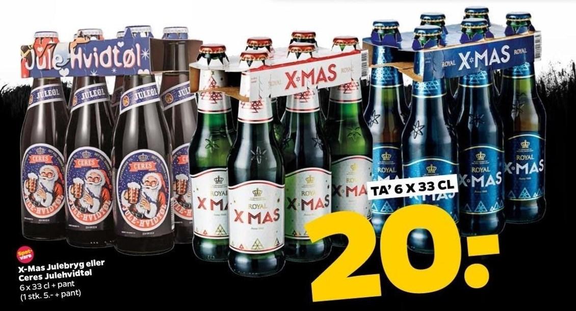 X-Mas Julebryg eller Ceres Julehvidtøl 6 x 33 cl