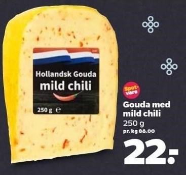 Gouda med mild chili