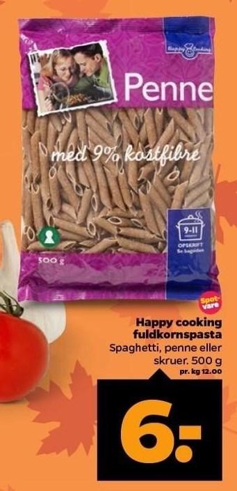 Happy cooking fuldkornspasta