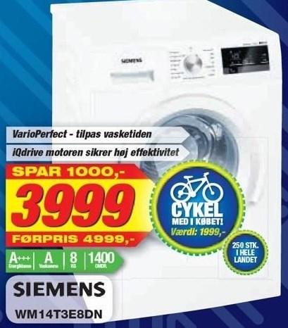 Siemens vaskemaskine