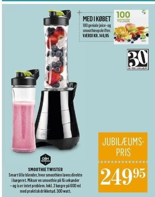 Smoothie twister inkl. juicebog
