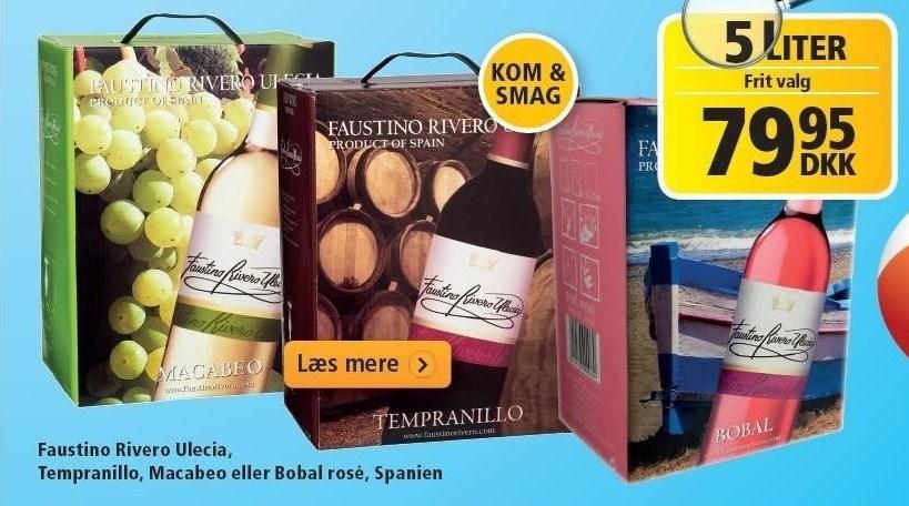Faustino Rivero Ulecia, Tempranillo, Macabeo eller Bobal rosé 5 liter