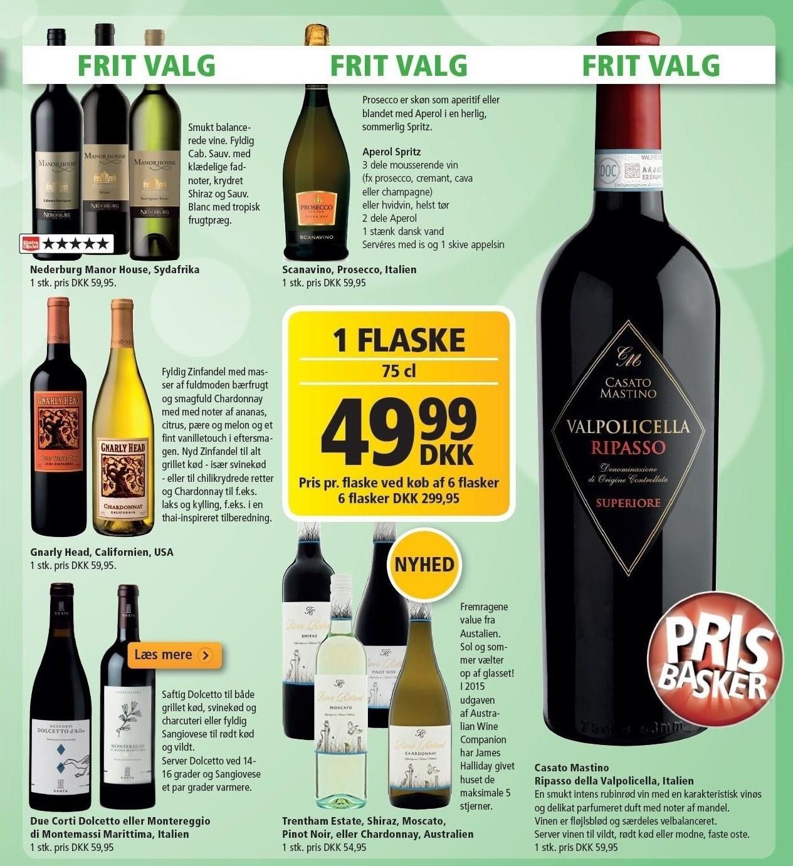 Mousserende, rødvin eller hvidvin pr. flaske v/ køb af 6 flasker