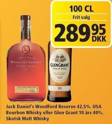 Jack Daniel's Woodford Reserve eller Glen Grant 10 års