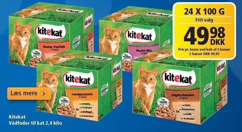 Kitekat Vådfoder til kat pr. kasse v/køb af 2 kasser