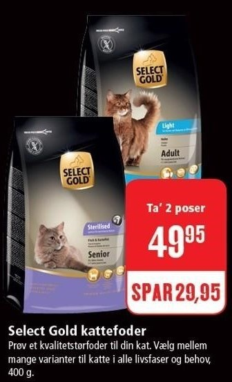 Select Gold kattefoder 2 ps.