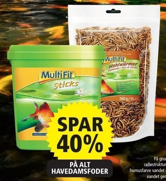 Spar 40% på alt havedamsfoder