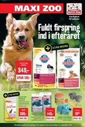 Maxi Zoo: Gyldig t.o.m søn 6/9
