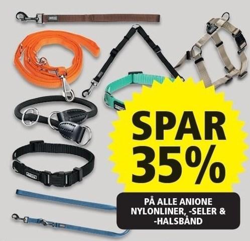 Spar 35% på alle AniOne nylonliner, -seler & -halsbånd
